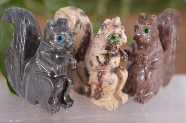 Squirrel Soapstone Steatite Carving for Broadening Horizons & Shamanic Guidance