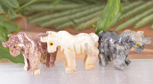 Unicorn Soapstone Steatite Carving for Broadening Horizons & Shamanic Guidance