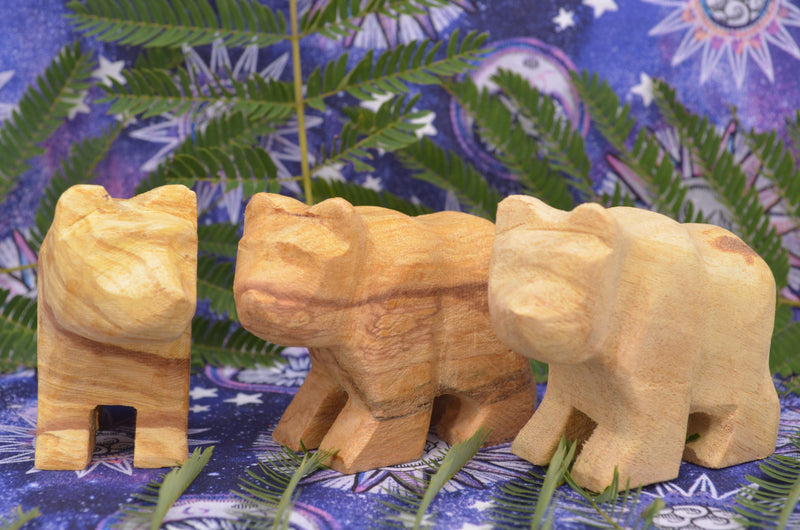 Sacred Palo Santo Carved Bears for Aromatic Strength and Protection