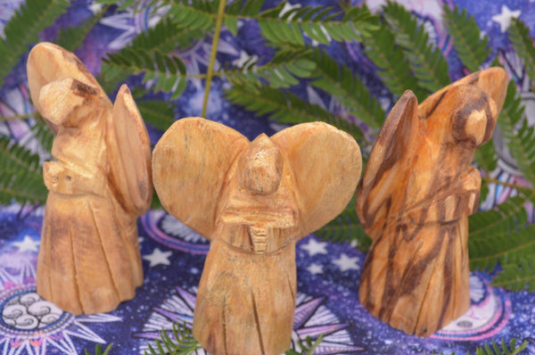 Sacred Palo Santo Carved Angels for Aromatic Divine Protection