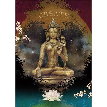 White Tara Create Greeting Card