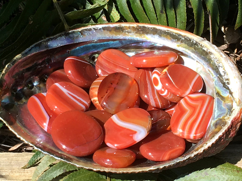 Carnelian Banded Agate Coins