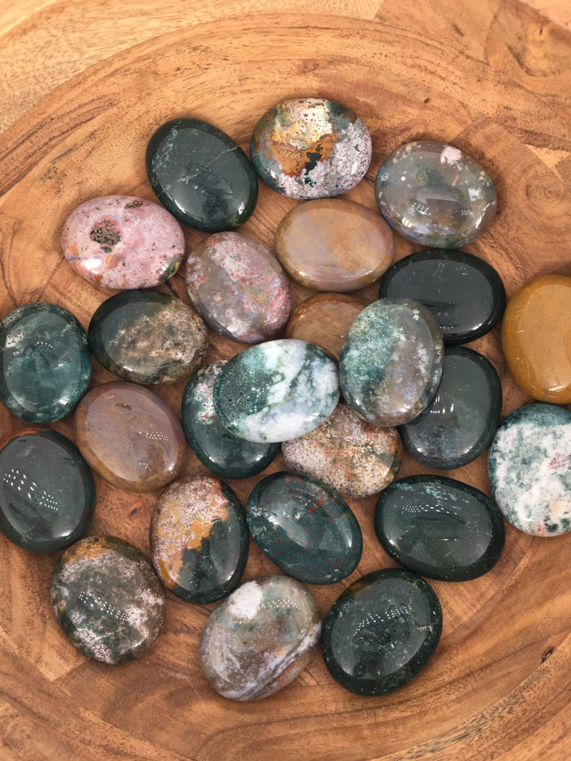 Ocean Jasper Pillow Palm Stones