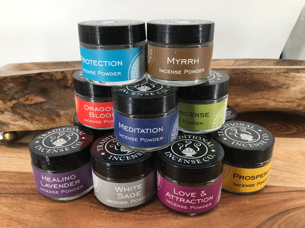 Natural Plant Based Incense Powders