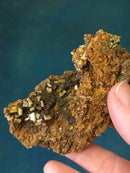 Wulfenite and Mimetite on Limonite