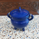 Cast Iron Cauldron - Blue