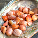 Banded Carnelian Agate Tumbled Stones