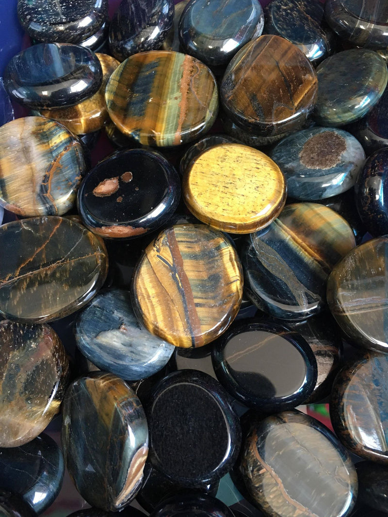 Blue Tiger Eye Coins