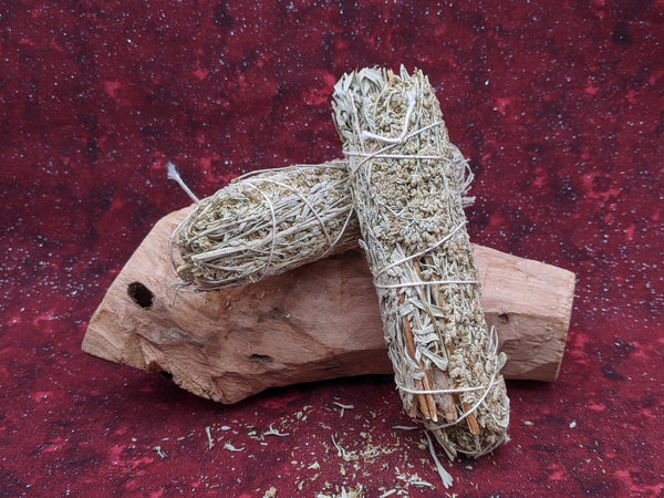 Red Mountain Sage with Frankincense Resin Smudge Stick