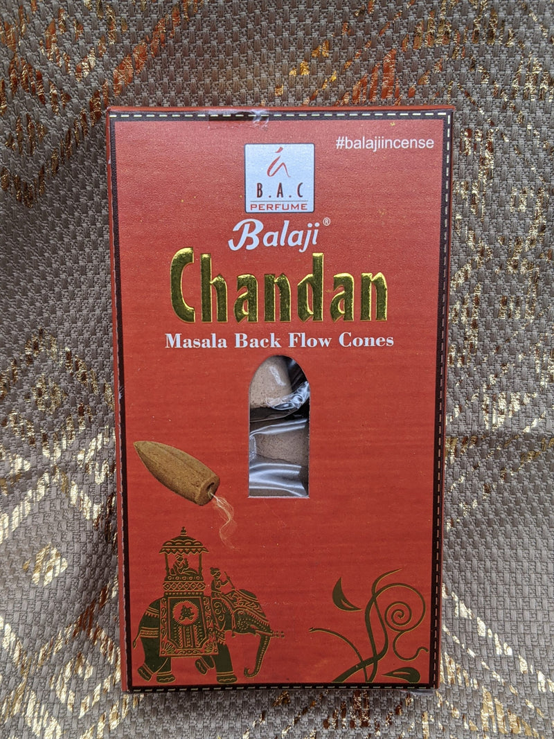Balaji Chandan Backflow Incense Cones
