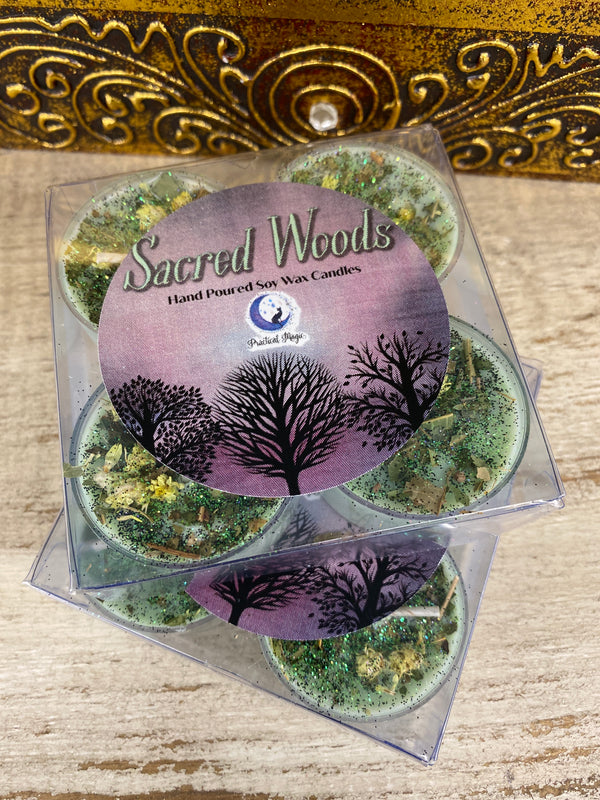 Sacred Woods Tealight Candle Set