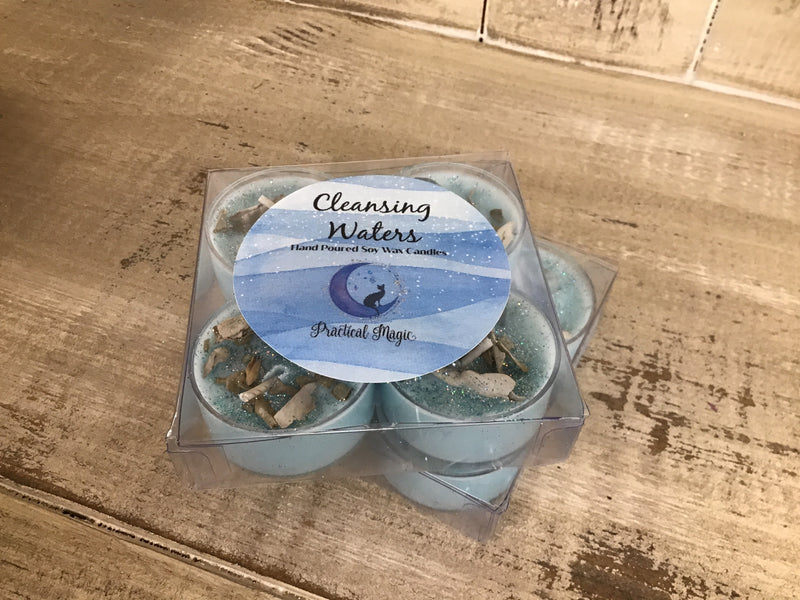 Cleansing Waters Tealight Candle Set