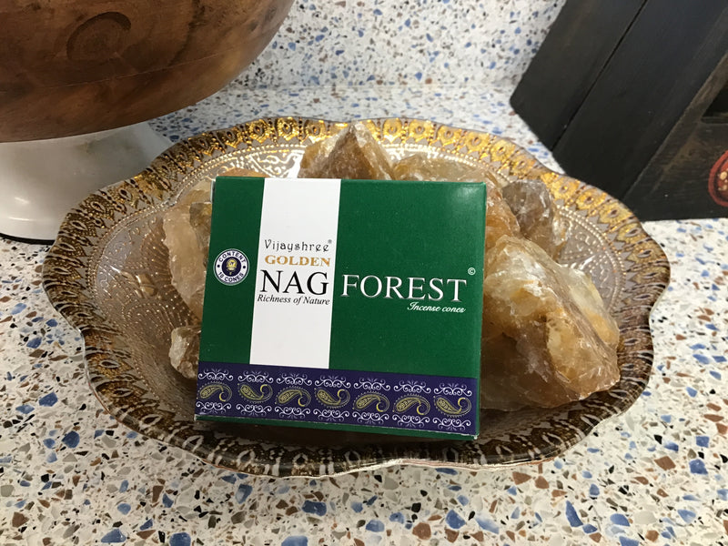 Golden Nag Champa Forest Incense Cones