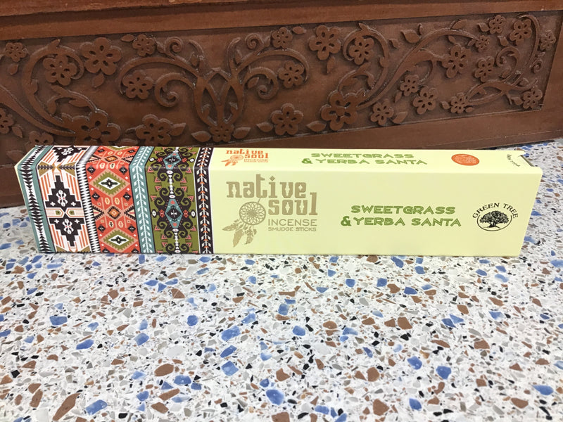 Native Soul Sweetgrass and Yerba Santa Stick Incense