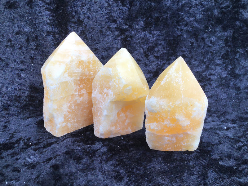 Orange Calcite Rough Top Polished Point