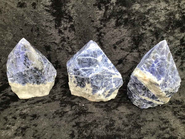 Sodalite Rough Top Polished Point