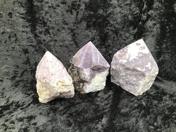 Lepidolite Rough Top Polished Point