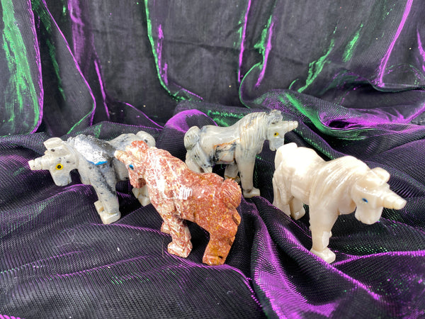 Soapstone Steatite Carved Unicorns (Medium)