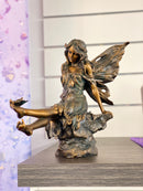 Fairy Aster Figurine with Butterfly on Her Feet