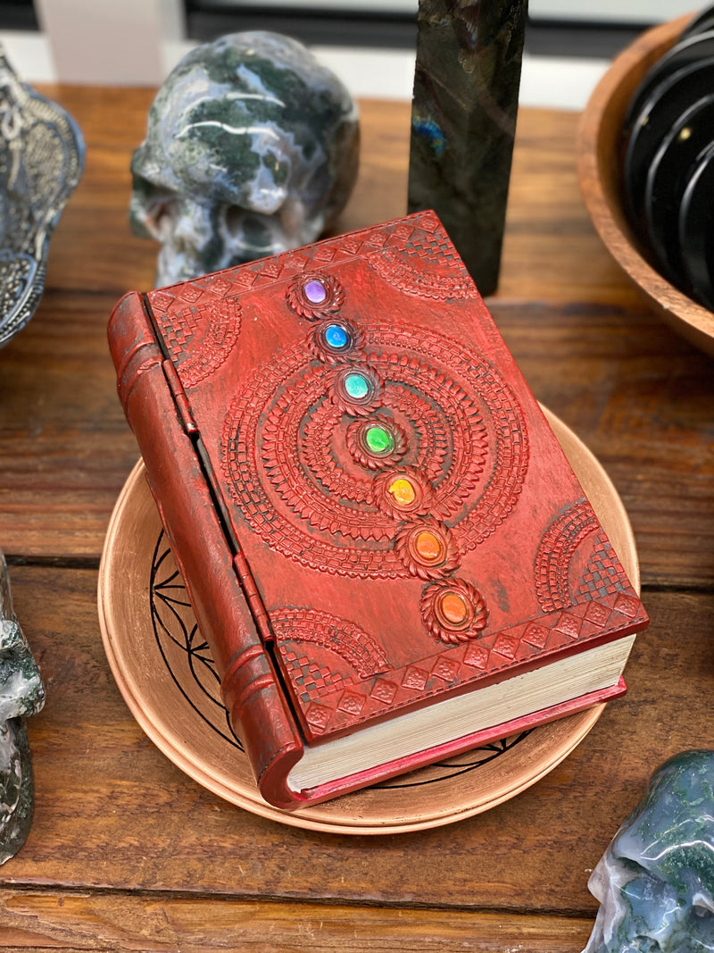 Chakra Book Box for Storage of Trinkets, Crystals or Keepsakes