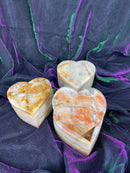 Rainbow Onyx Heart Boxes