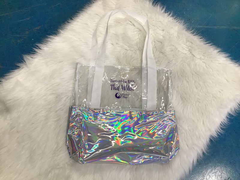 Practical Magic Store 100% That Witch Clear and Holographic Tote Bag