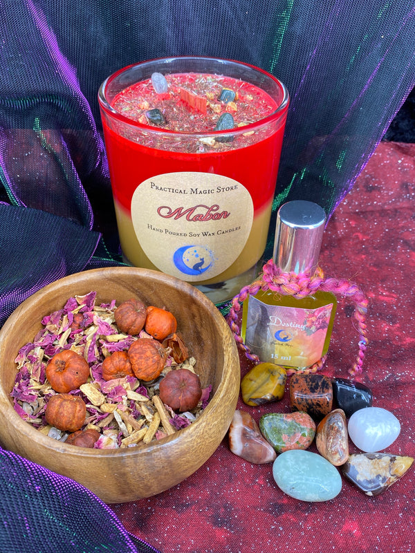 Mabon Autumnal Equinox Ceremony Kit (Perfume & Candle)