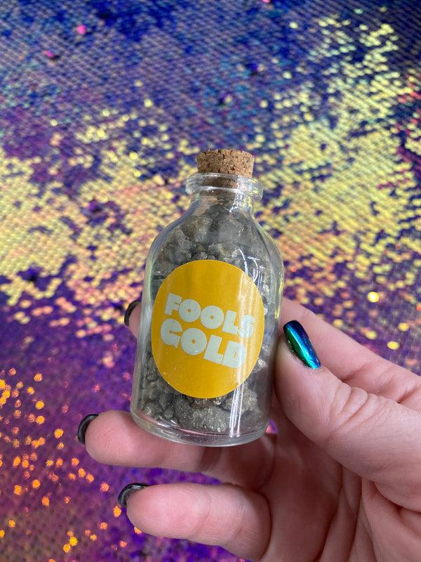 Kids Pyrite Fool's Gold Collector Bottle