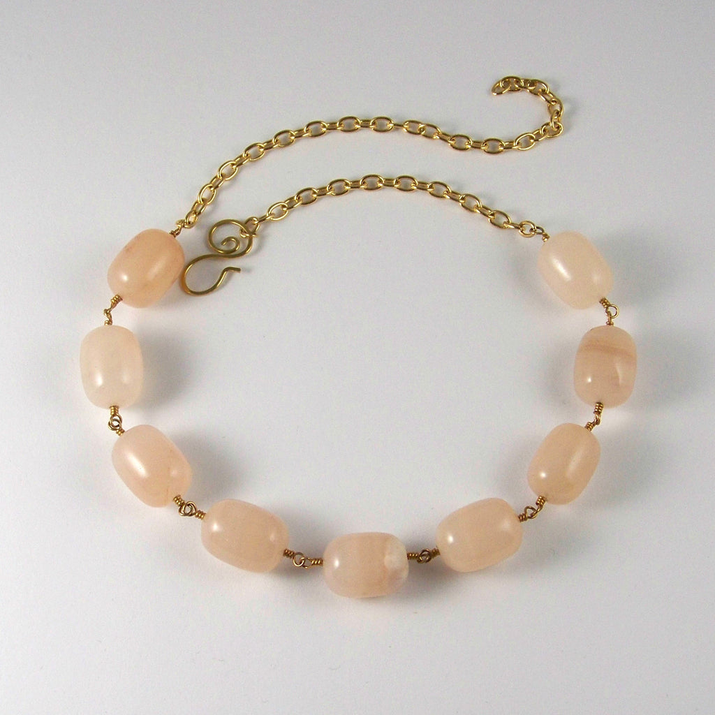 Candy Floss- Chunky Chalcedony Goddess Choker Necklace