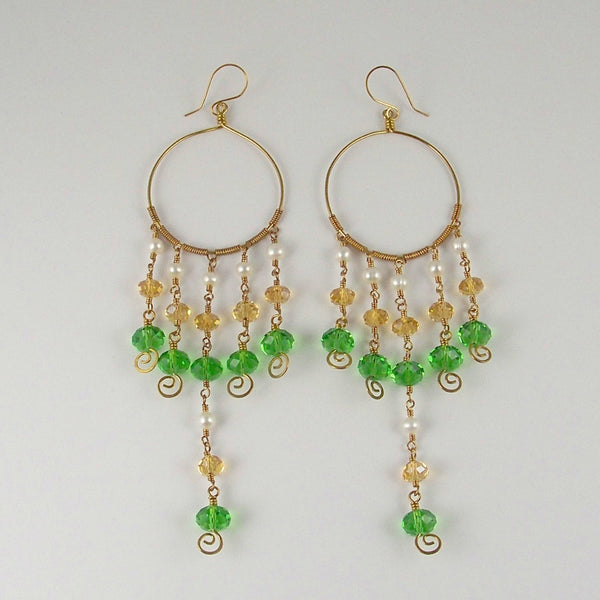 Indian Summer Earrings- Bejewelled Ear Adornments