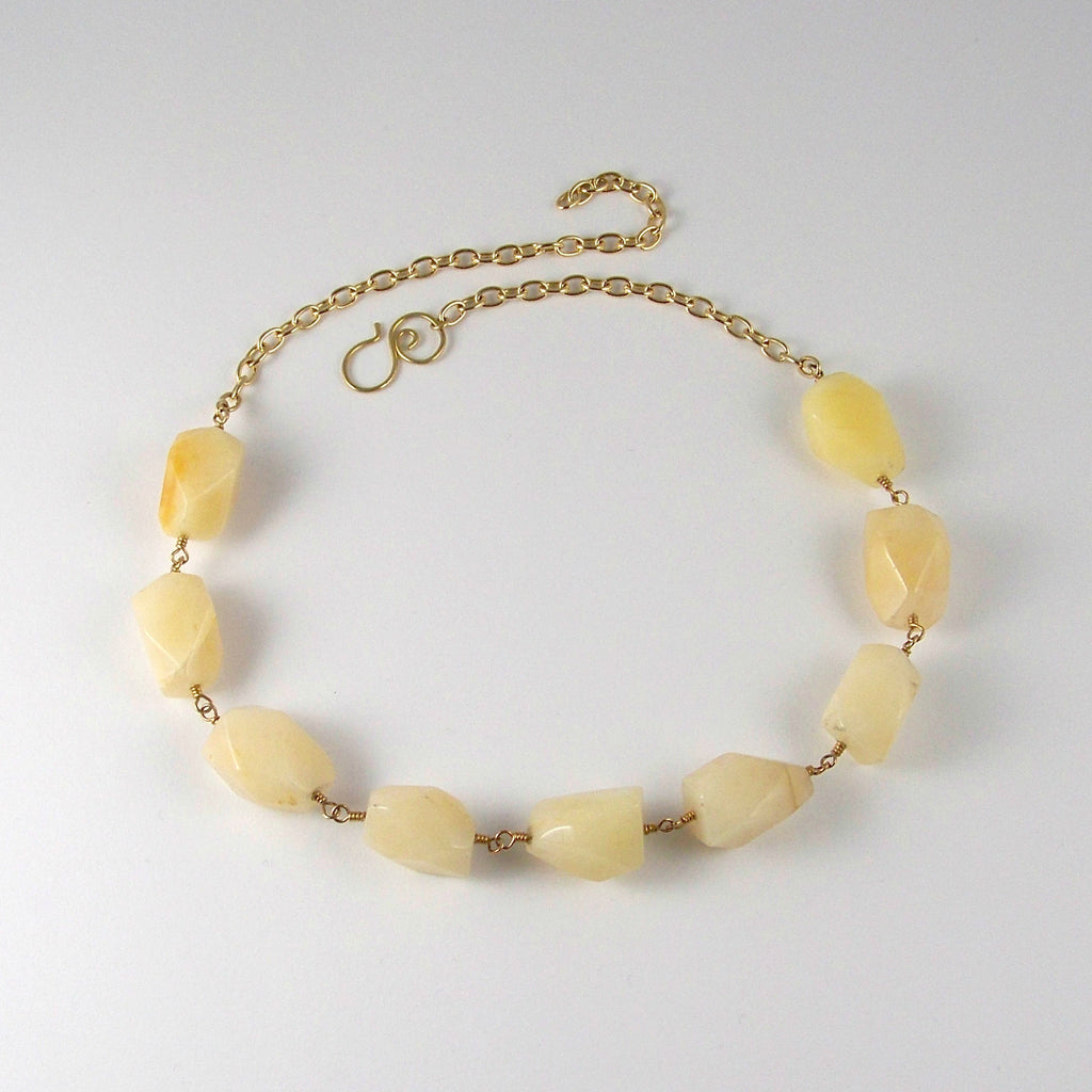 Optimist's Only- Chunky Calcite Goddess Choker