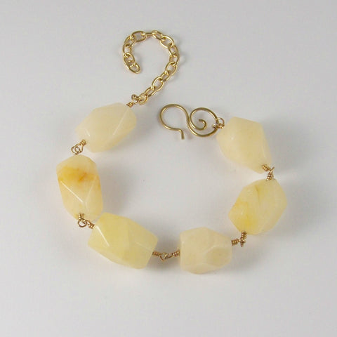Optimist's Only- Chunky Calcite Goddess Bracelet