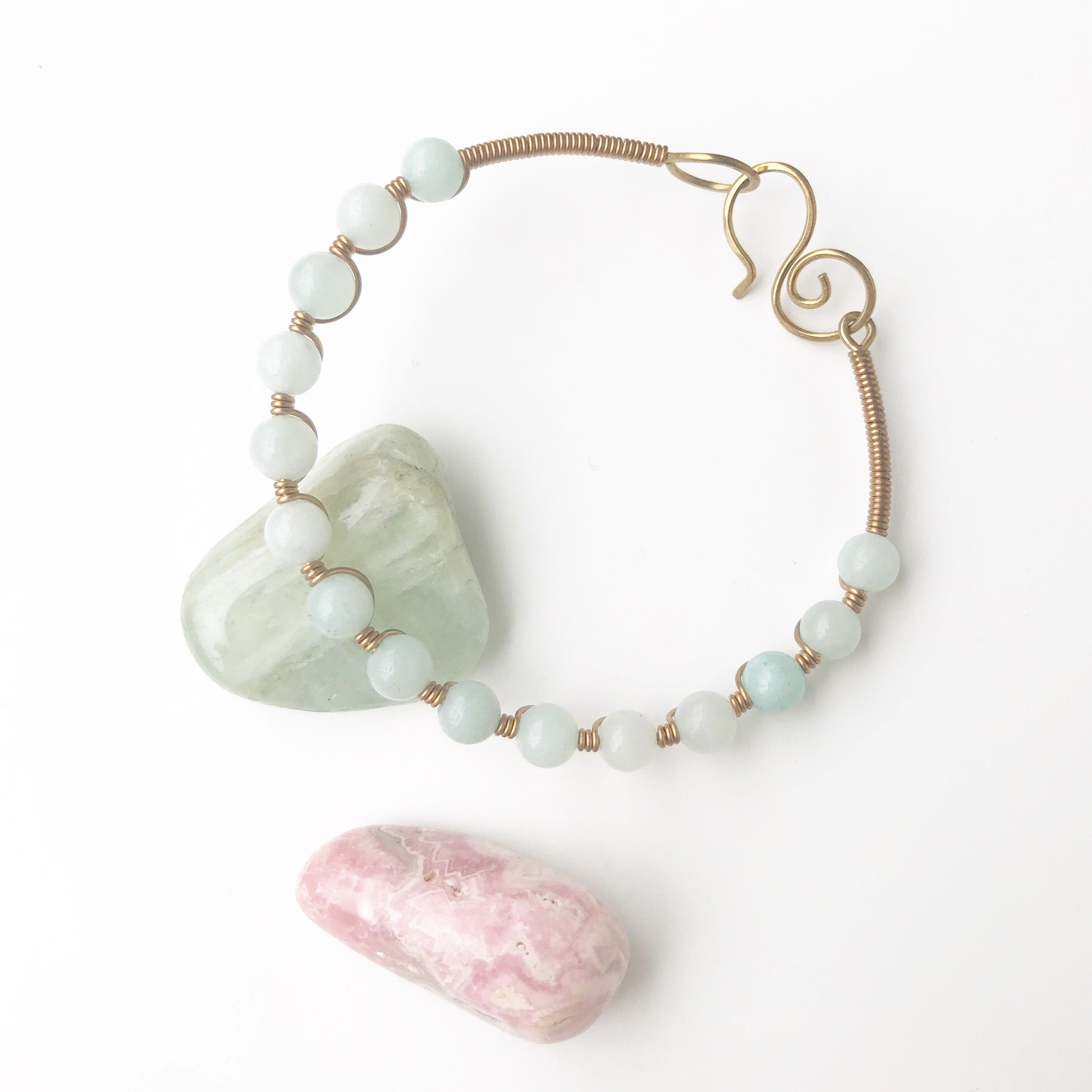 Sacred Stone Bangle- Amazonite