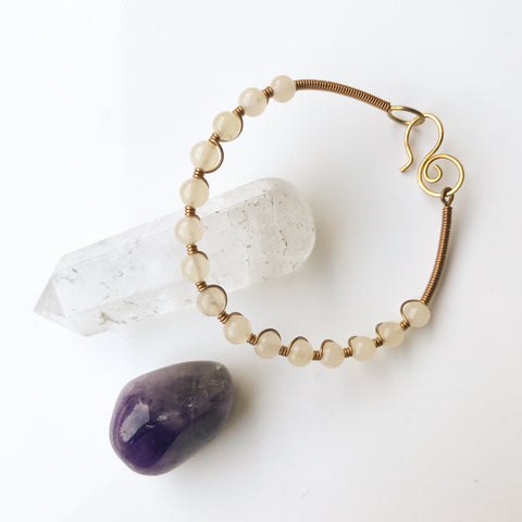 Sacred Stone Bangle- Yellow Calcite