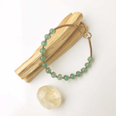 Sacred Stone Bangle- Chrysoprase