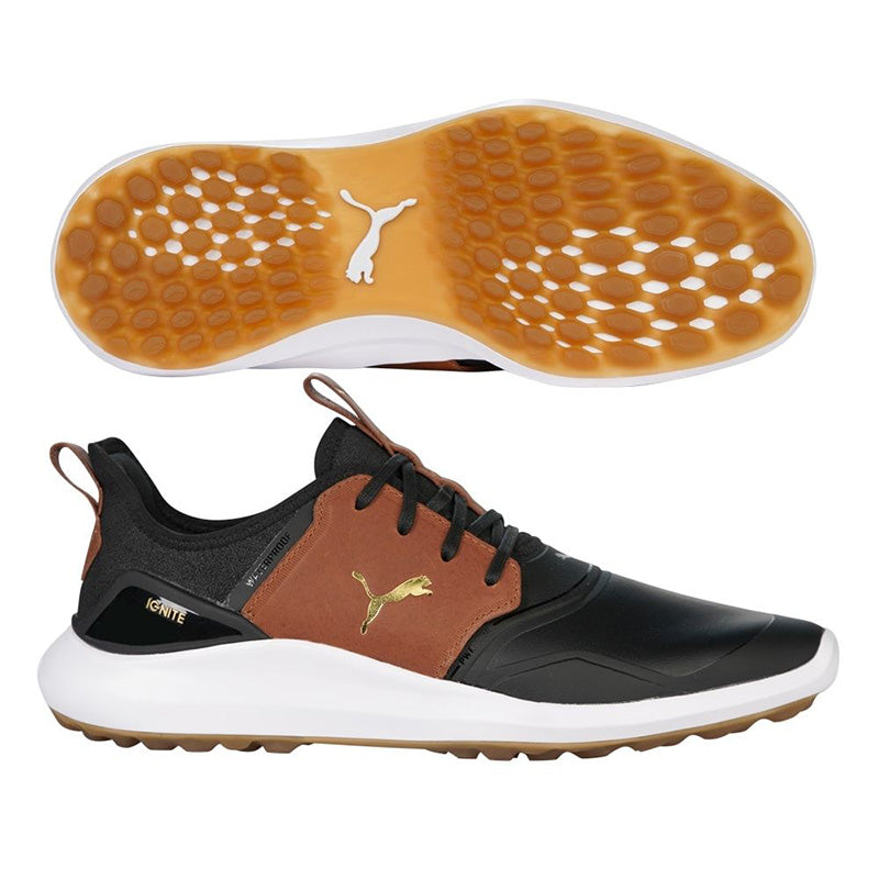 Puma Ignite NXT Crafted Golf Shoes - Black/Brown