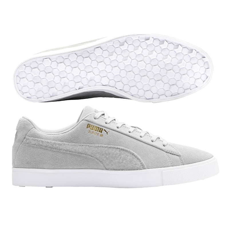 Puma Womens Suede Golf Shoes - Quarry - Size 6