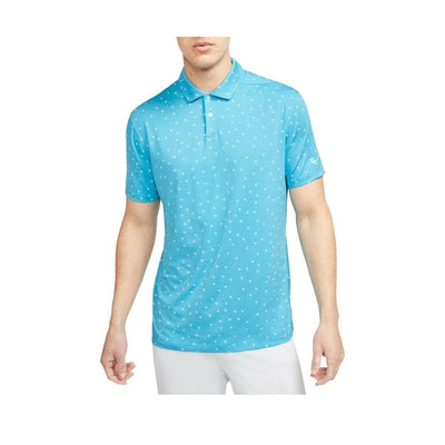 Nike Dri-Fit Vapor Rose Print Polo - Blue Fury