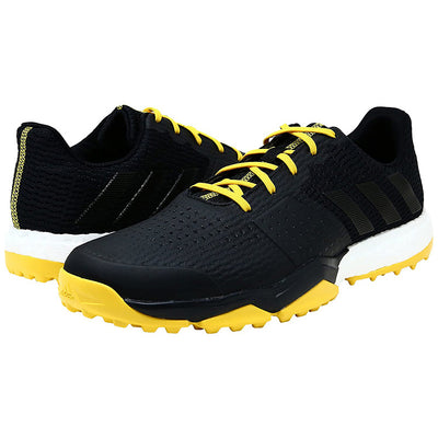 ADIPOWER  S Boost 3 Golf Shoes - Black/Yellow - Size 8