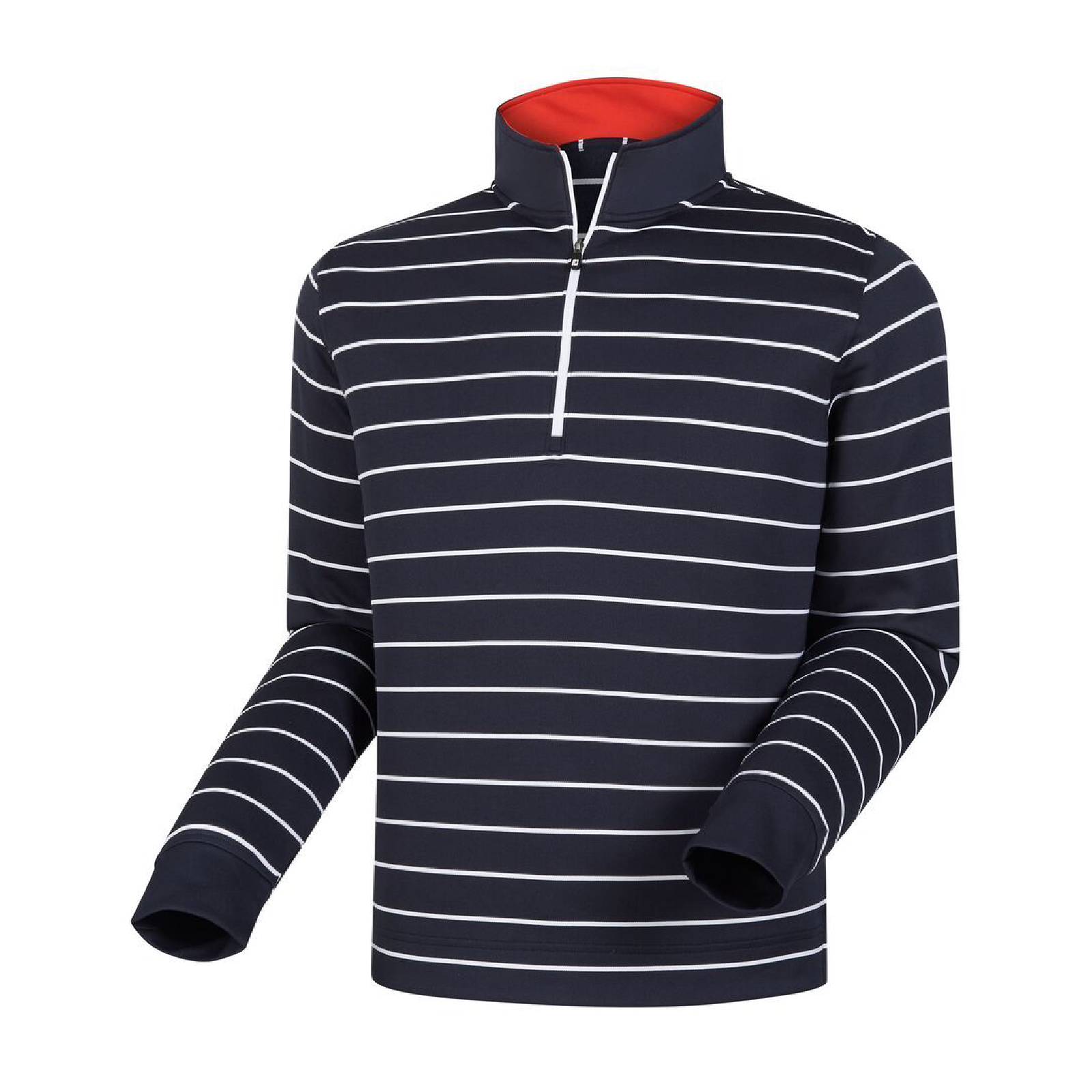 Footjoy double layer stripe half-zip - Navy 2XL