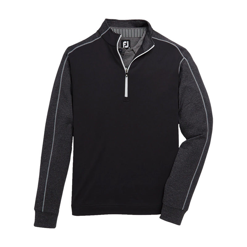 Footjoy Tonal Heather Mid-Layer - Black - Previous Season Style