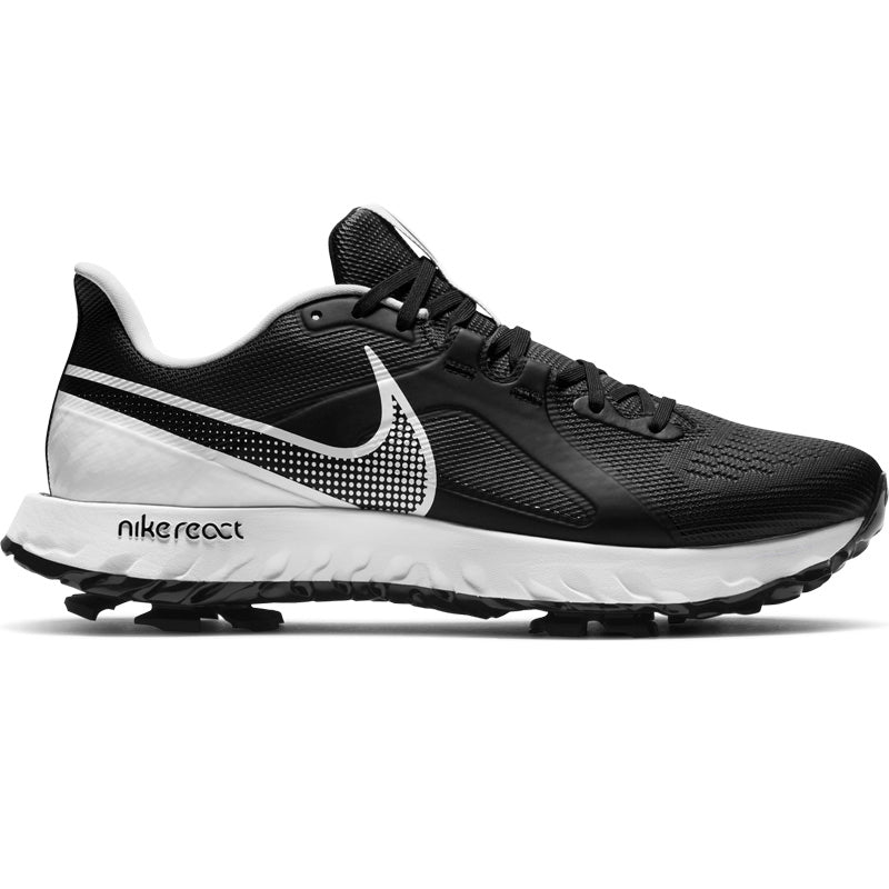 Nike React Infinity Pro Golf Shoes - Black/White - Size 8.5