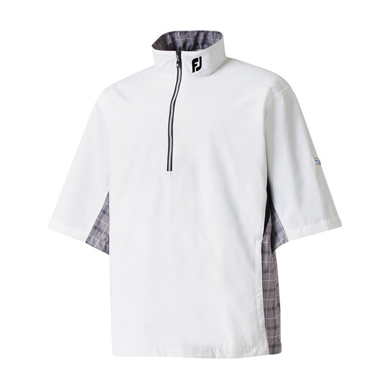 Footjoy Hydrolite Short Sleeve Rain Shirt - White/Checker - Previous Season Style