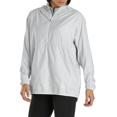 Footjoy Womens Pullover Anorak Jacket - Grey - Previous Season Style
