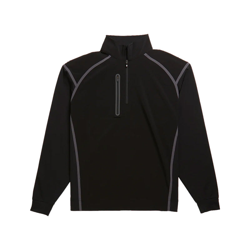 Footjoy Wind Tech Pullover - Black - Previous Seasons Style