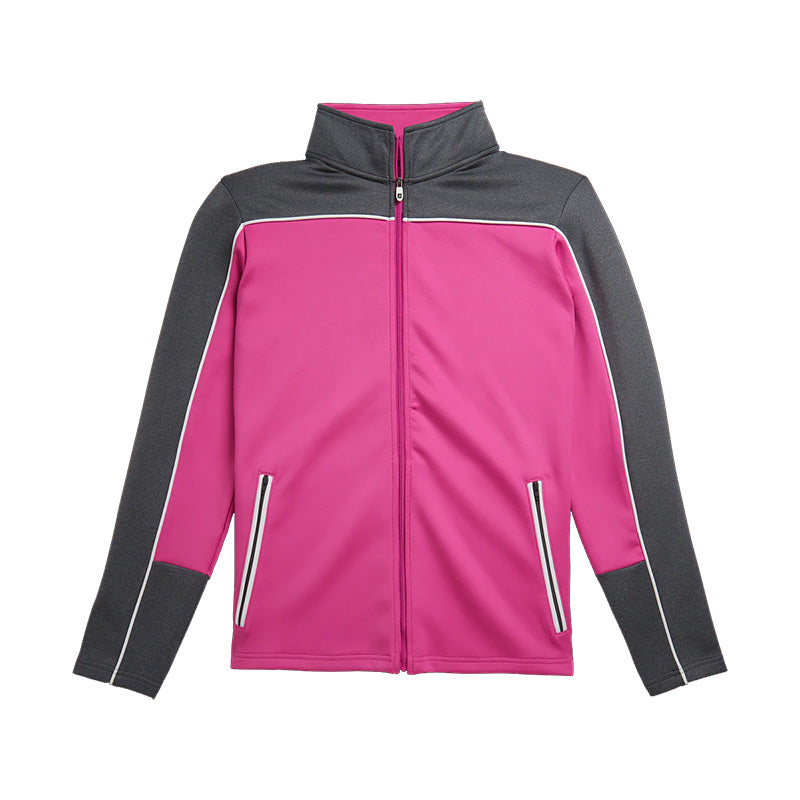 Footjoy Womens Jersey Full-Zip Mid Layer - Rose Pink - Previous Season Style