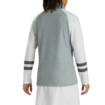 Footjoy Womens Full-Zip Raglan Color Block Mid Layer - Grey - Previous Season Style