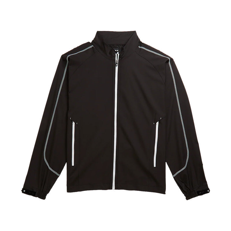 Footjoy Full Zip Sport Windshirt - Black/White - Previous Season Style