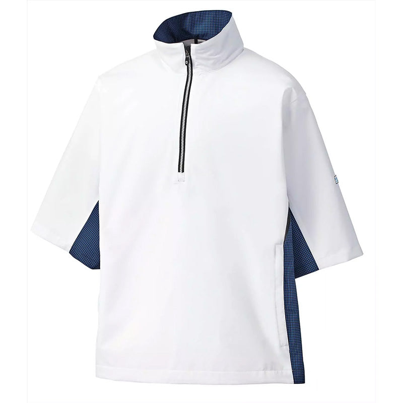 Footjoy Hydrolite Short Sleeve Rain Shirt - White/Royal - Previous Season Style
