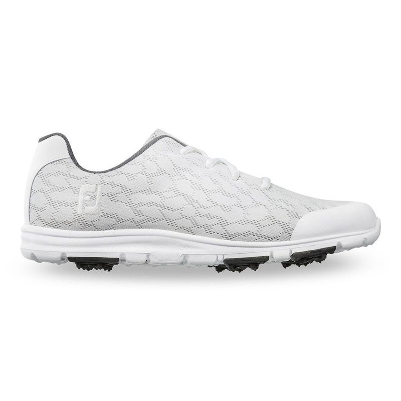 Footjoy Womens Enjoy Shoes - White/Grey -Previous Season Style - Size 9.5W
